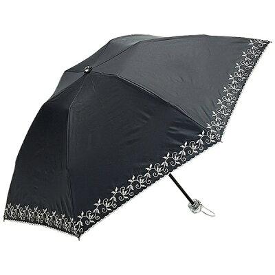 ウォーターフロント レディース晴雨兼用折傘 エンブロリーフ晴兼折 EBLF-3F50-SH UV加工 50cm