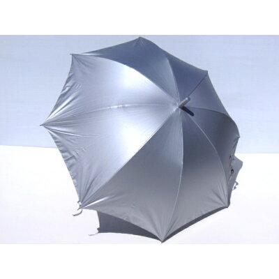晴雨兼用傘 waterfront 親骨65cm 銀行員の日傘 シルバーコーティング手開き長傘