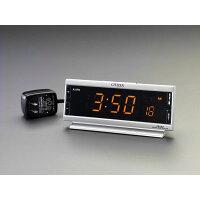 ESCO 192x 83x50mm 交流式 (電波)デジタル置時計 EA798CG-54A (I11