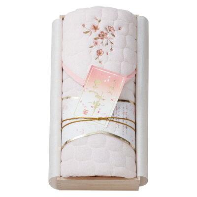 瀧定大阪 王華 木 さくら刺繍敷きパット ピンク OK1705