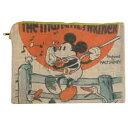 クラッチバッグ ビッグフラットポーチ ミッキーマウス ファーマー ディズニー 32×24cm