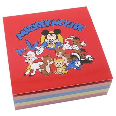 レタースケール部門1位  Disney ディズニー NEW ノスタルジカ スクエアメモ帳 ミッキー フレンズ 車 DSST605N