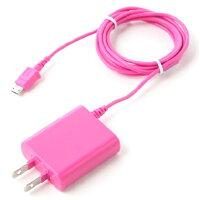 AC充電器 スマホ Android対応 スリムボディ1.5mコード(ピンク)OKWAC-SP81P