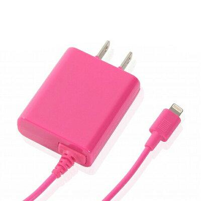 携帯充電器 AC充電器ピンクOKWAC-L013PMFI認証品