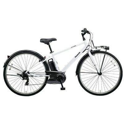 パナソニック Panasonic 700×38C型 電動アシスト自転車 ベロスター クリスタルホワイト/外装7段変速 BE-ELVS77F