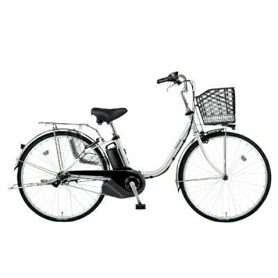 Panasonic 26型 電動アシスト自転車 ビビ・SX(シャイニーシルバー) BE-ELSX632S2