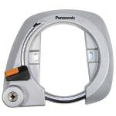 パナソニック ディンプルキー式 後輪サークル錠 シルバー SAJ079B