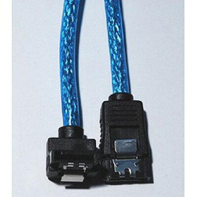 JTT バルク シリアルATAラウンドケーブルL型 ラッチ付アオ30cm NBSAL30BLR