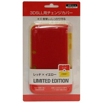 BIC プライベートブランド 3DS LL用 チェンジカバー レッド×イエロー SASP-0265