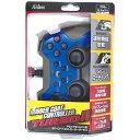 PS3/PSVitaTV用ラバーコートコントローラーターボ2 ブルー×ブラック アクラス