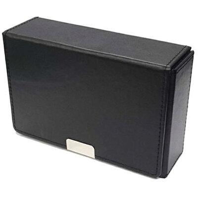 合皮製スリムカードケース ブラック アクラス