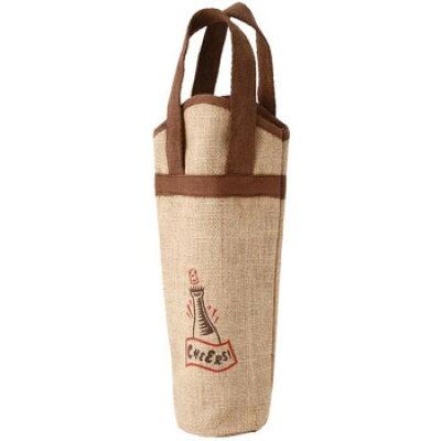 グローバル 麻ワインバッグ 1本用 ワンポイント 10枚