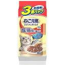 ユニ・チャーム ねこ元気 総合栄養食パウチ 成猫用まぐろ入りかつお 60gX3