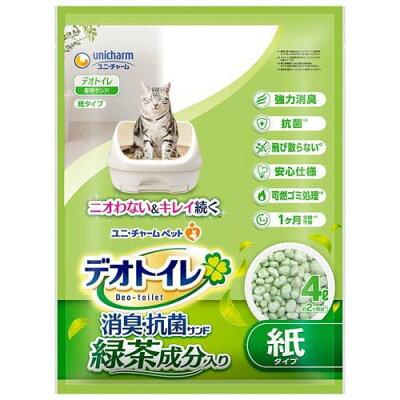 デオトイレ 飛び散らない緑茶成分入り消臭サンド(4L)