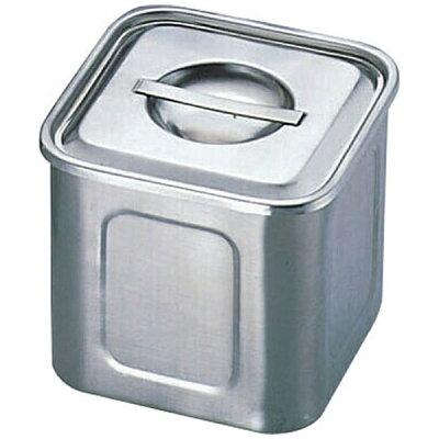 AEK1305 エコクリーンUK18-8深型角キッチンポット 13.5cm 4520785071409