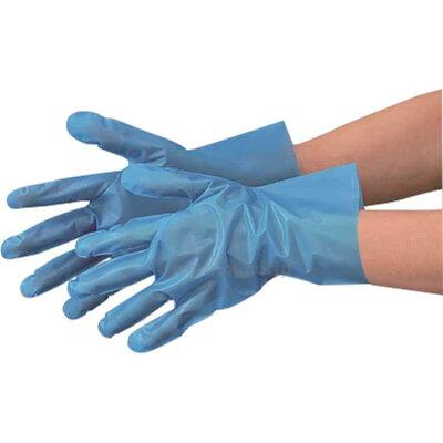 エブノ ポリエチレン手袋 No.310 S 青 100枚 ポリグローブフィット ブルー 箱入