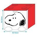スヌーピー 卓上収納 スタッキング チェスト L レッド ピーナッツ ケイカンパニー 15.5×13.5×17.7cm