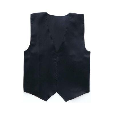衣装ベース サテンベスト L 黒(1枚入)