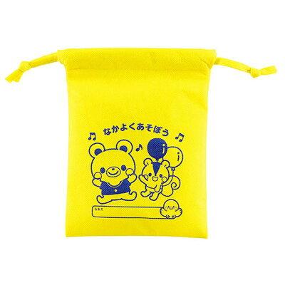 不織布製きんちゃく袋 なかよくあそぼう 巾着袋  6892