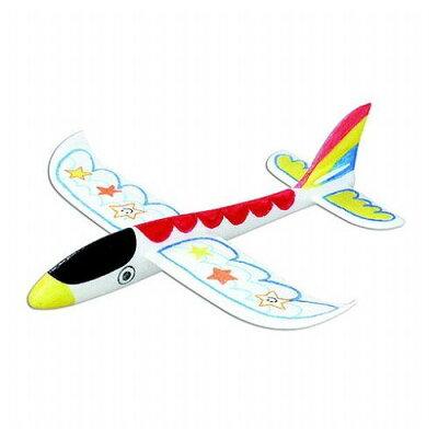 色塗りスチロール エアプレーン飛行機作り