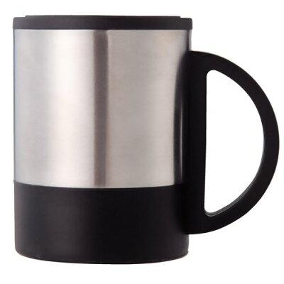 ステンレス二重マグカップ(フタ付) 074112