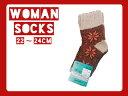 トモクニ 裏綿2重編み 雪柄ソックス 靴下 ソックス 日本製 くつ下