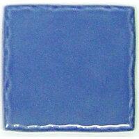 玉川窯業 色つき無地プレインタイル ダークブルー 約97×97×7mm PT-017