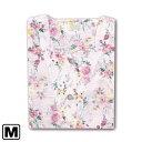花柄ローンリップル パジャマ 80ローン ピンク M パジャマ リップル加工 薄地 ソフ ト 80ローン 花柄 ブルー