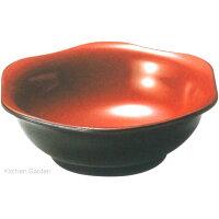 六角鉢 黒内朱(9-233-10)
