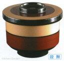 飯碗 切立保温飯器白歌舞伎内朱 高さ96 直径:105