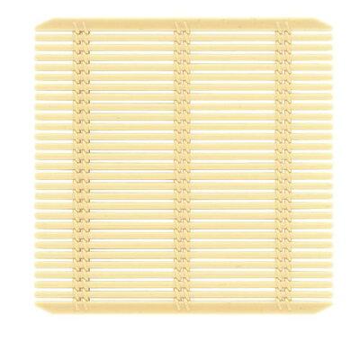 商品コード:QTK3103 強化PP竹ス 正角 130 クリーム