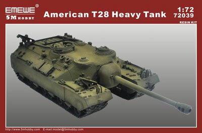 楽天市場】インターアライド 1/72 T-28重戦車 5M HOBBY M72039 T28 ...