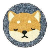 柴犬・コタロウ ネムネムマット 眠そうな顔がまん丸マット