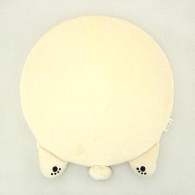 りぶはあと ねむねむ リラックス チェアクッション ホワイト シロクマのラッキー
