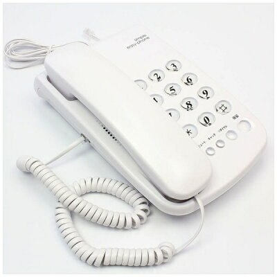 KITS ノーマル電話機 シンプルイージーホン IT01NW ホワイト