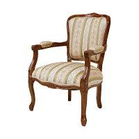 アームチェア 椅子 クラシック調 姫系 Fiore ブラウンフレーム 幅66cm チェア チェアー