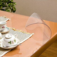 柘産業 日本製 透明抗菌テーブルマット 2mm厚 表面抗菌加工・裏面非転写加工 約900×1500長 TK2-159 1145246