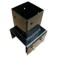 ブロック用ポスト金具10cm用75角用 -WJ711-10 AK ラティス取付 ラティスフェンス 設置 取付金具 パーツ