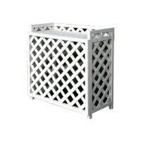 エアコン室外機カバーラティス風 白 ngch-39821