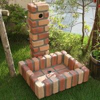 レンガ風 水栓柱カバー ガーデンパン  FRP製 レンガ調 水洗柱ユニット  78813