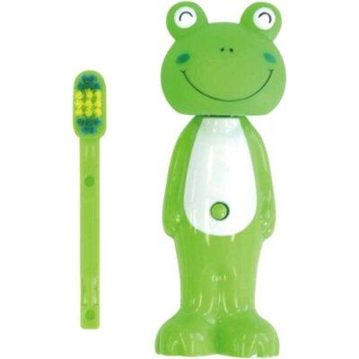 バウンス歯ブラシ 替えブラシ付き カエル