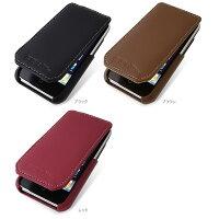 PDAIR レザーケース for iPhone 3G 縦開きタイプ ver.2 ブラック PALCIPOHN3F2/BL