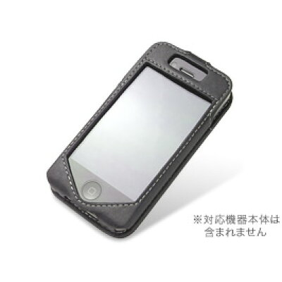 PDAIR PALCIPOHN4S/BL Leather Case - Sleeve Type for iPhone 4 ブラック