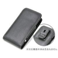 PDAIR レザーケース for htc EVO 3D ISW12HT ベルトクリップ付バーティカルポーチタイプ ブラック