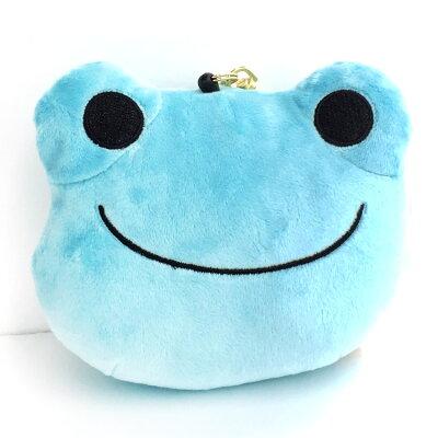 かえるのピクルス ぬいぐるみパスケース ブルー 600-2998