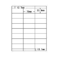 Office DEPOT マルチラベル(A4) 汎用・24面(1片:縦33.9×横70.0mm) 1パック(100枚)
