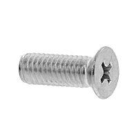 鉄/クローム + サラ小ねじ 小頭 M6 × 30