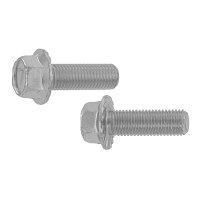 鉄/三価ブラック 7マーク フランジボルト 2種・セレート付き 細目・全ねじ M10×20 ピッチ=1.25