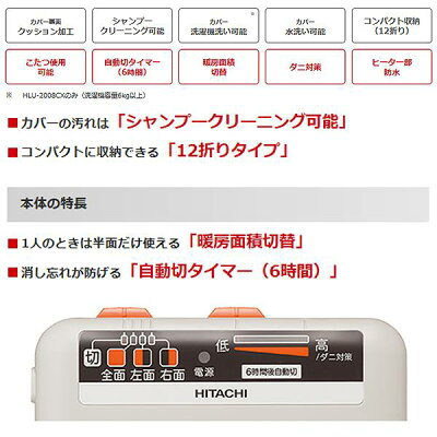 HITACHI ホットカーペット HLU-2008CX