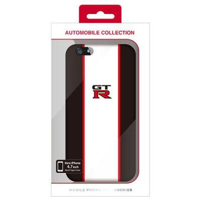 ジーティーアール iPhone6専用ストライプハードケース ブラック NR-P47S2BK(1コ入)